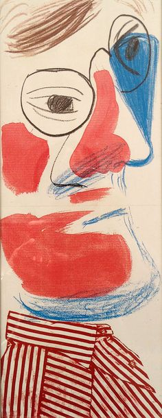 David Hockney print Self Portrait 1986