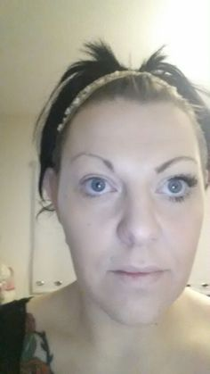 Me wearing one eye of 3D Fibre lash mascara