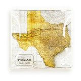 Vintage Texas Map Glass Necessity Tray, $78.00