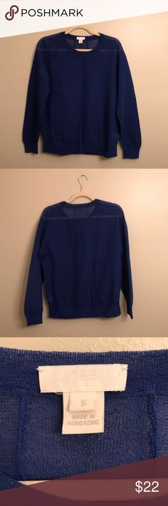 J. Crew Crewneck Sweater in Royal Blue (Size S) J. Crew Crewneck Sweater in Royal Blue (Size S)  - Gently worn - Crewneck style - Looks great with a cami underneath - Beautiful royal blue color - Size S  *Final sale, please ♥️ J. Crew Sweaters Crew & Scoop Necks