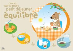 Affiche - 5 - destinée aux enfants en situation de handicap : un petit déjeuner équilibré