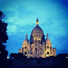 Get a panoramic view of the City of Lights from the steps of the Sacre-Coeur Basilica, nestled high atop the butte of Montmartre.  Web site: http://www.sacre-coeur-montmartre.com/