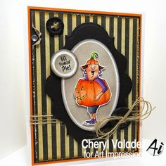 Pumpkin Patty Comes in a set or sold separately  made by Art Impressions Rubber Stamps, All items can be purchased in my ebay Store Pat's Rubber Stamps & Scrapbooks or call me  423-357-4334 and place an order,  or come by 1327 Glenmar Ave. Mt Carmel, TN 37645,  We take PayPal.  You get free shipping with the phone orders of $30.00 or more