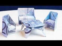 GESCHENK zum Einzug: Tisch aus Geld falten - YouTube