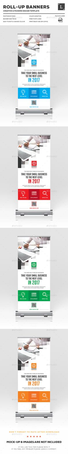 Roll-Up Banners Design Template PSD. Download here: http://graphicriver.net/item/rollup-banners/16396981?ref=ksioks