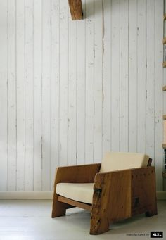 maybe wallpaper if we can't afford to clad all the walls in wood... love the chiar