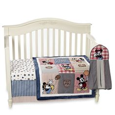Kidsline™ Vintage Mickey Mouse 4-Piece Crib Bedding Set and Accessories - buybuy BABY