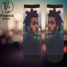 "Unisex, Original, Abel ""The Weeknd"" Socks by Fvmous Clothing Co... ALL Socks can be changed in Color, Images, etc... If you wish to Customize or Change something within the design of the sock, please leave us a note at checkout or email us..."