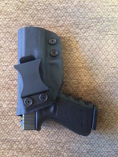 An inside the waistband holster made for a great customer.  Complete with two adjustable retention screws.   www.geartofit.com Inside The Waistband Holster, Holsters, Hand Guns, Firearms, Pistols