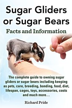 Sugar Gliders or Sugar Bears Facts and Information:  The Complete a Guide to Owning Sugar Gliders or Sugar Bears Including Keeping as Pets, Care, Breeding, Bonding, Food, Diet, Lifespan, Cages, Toys, Accessories, Costs, and Much More . . .   | Pride, Richard