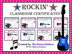 FREE Rockin' Classroom Certificates (awards and birthday certificates)... Enjoy!