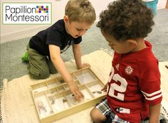 Students helping each other learn at Papillion Montessori