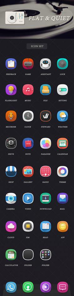 icons flat&quiet