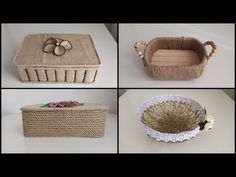Rope Crafts, Sisal, Baskets, The Creator, Arts And Crafts, Boxes, Mini, Places, Youtube