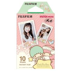1 Pack Little Twin Stars FujiFilm Fuji Instax Mini Picture Format Instant Film Photos (10 Shots) For Instax Mini Series Cameras X240  *** FREE Track & Trace Shipping! ***  Product Description  Instax Mini Picture Format Instant Film from Fuji is an incredibly sharp, credit card-sized, daylight-balanced ISO 800 film made for use in Instax Mini Series Cameras. Recognized for its excellent color reproduction, the film has a glossy finish and is an excellent choice for general use, portraitur...