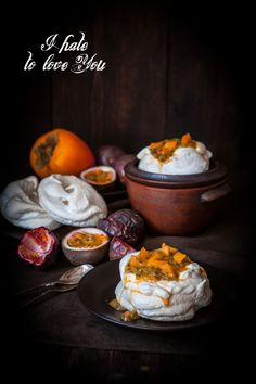Passion Fruit, Persimmon and Pepper Pavlova | Miss Foodwise