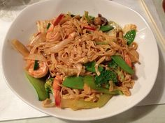 Mekong shrimp with vegetables and egg noodles - Sandusky, Ohio.