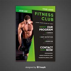 Plantilla de folleto de gimnasio Diet And Nutrition, Fitness Nutrition, Cardio Diet, My Gym, Exercise, Baseball Cards, Google, Ideas, Tri Fold Brochure