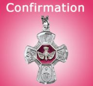 Find a unique Confirmation gift at Leaflet Missal. From pretty jewelry and patron saint statues to personalized bibles and keepsake boxes, we have it all! Catholic Confirmation Gifts, Patron Saints, Keepsake Boxes, Youth, Brooch, Pretty, Unique, Jewelry, Jewlery