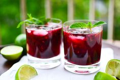 Blackberry Mojitos, double
