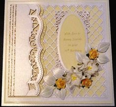 Personalised card made with some of the lovely Spellbinders dies