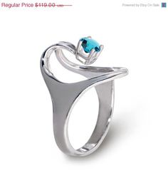 SALE 20 off  ISIS Sterling Silver Engagement Ring by AroshaTaglia, $95.20