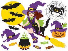 BUY 1 GET 1 FREE  Halloween Clipart  Digital Vector by TanitaArt