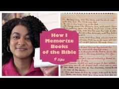 How I Memorize Books of the Bible ~ 9 Tips - YouTube