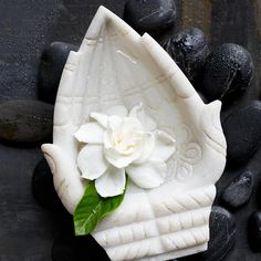 Beautiful Marble Hands carving from India . it is said that cupped hands symbolize the delicacy of a fragile idea or the emptiness of self for a greater good or purpose . let me find and share that idea, greater good or purpose!