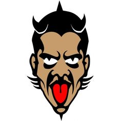 Scary devil face vector illustration