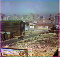 These colour images of San Francisco were taken on Saturday October 1906 by Frederick Eugene Ives. They show the damage caused to the city by the April 1906 earthquake and fire. San Francisco Earthquake, Ville New York, Dramatic Photos, San Francisco Bay, Natural Disasters, Colorful Pictures, Old Photos, Fire, Photographs
