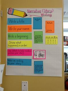 The second graders are learning how to write narratives.