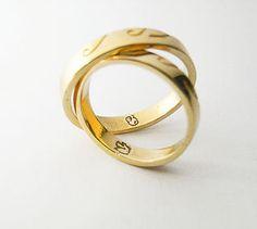 Unique wedding rings - Anelli nuziali unici e personalizzati. Incisioni persanalizzate