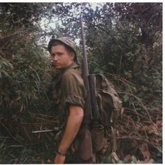 Cpl. Ray Johnson, sniper platoon, 4th Marines. Working in the mountains around Cua Viet, Vietnam 1967.