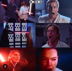 The ongoing saga of characters screaming dramatically in the first installment of a Star Wars trilogy when their mentor dies