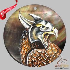 CREATIVE NECKLACE HAND PAINTED  EAGLE BIRD SHELL PENDANT ZP30 00264 #ZL #Pendant