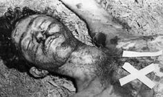Cadáver de Antonio Ñico López