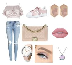 """""""Untitled #9"""" by mia-starr-zamora on Polyvore featuring Nocturne, H&M, River Island, adidas, Lime Crime and Chanel"""