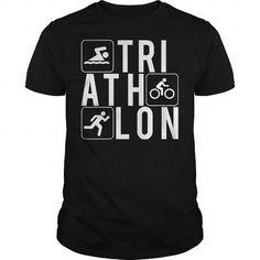 I Love Triathlon 3 Lines Shirts & Tees