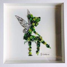 """Tinkerbell"" Button In A Frame.                                                                                                                                                                                 More"