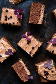 Chocolate Cake with Chocolate & Coffee Frosting Chocolate Coffee, Chocolate Cake, Single Layer Cakes, Flourless Cake, Coffee Cake, Frosting, Roast, Stud Earrings, Baking