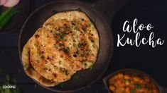Aloo Kulcha Aloo Kulcha is a crispy and soft flatbread that has a buttery texture. It is generally prepared over a tandoor but I am going to show you how to make it on a stove top. It is best served with chole or raita by the side. Jain Recipes, Aloo Recipes, Paratha Recipes, Gujarati Recipes, Veg Recipes, Vegetarian Recipes, Cooking Recipes, Gujarati Food, Indian Bread Recipes