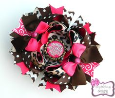 Football Themed Stacked Bow