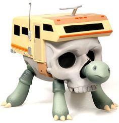 TurtleCamper - Bone - Designer Vinyl Toy - Artist: Jeremy Fish Platform: Turtlecamper Manufacturer: Strangeco