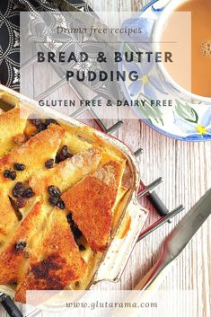 A delicious and simple Bread and Butter Pudding made gluten free with dairy free and vegan options too. A truly traditional comfort food for all the family to enjoy. #glutenfree #dairyfree #vegan #comfortfood #traditional #recipeeasy #recipes #bread #pudding #dessert #baked #custard