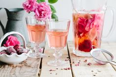 Rose, Lemon & Strawberry Infused Water