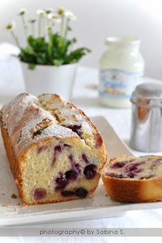 Torta di yogurt e mirtilli