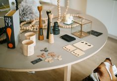 Candle Holders by Freemover, Magnets and Cups by LUM, Book and Glass Box by House Doctor, Coasters and Rivet by Maria Rästa.  photo: Hey Look / Michaela Egger