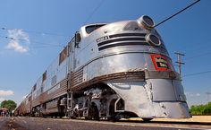 One of the Burlington Zephyr trains, which were the silver bullet of trains.