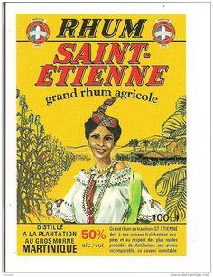Etiquette   RHUM  SAINT-ETIENNE agricole 50° 100cl - MARTINIQUE -